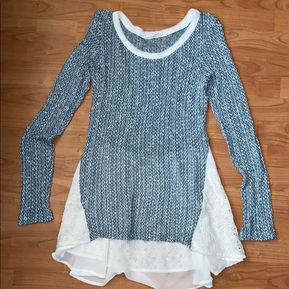 Anthropologie Tops - Clu + Willoughby Anthropology Lace Shirt
